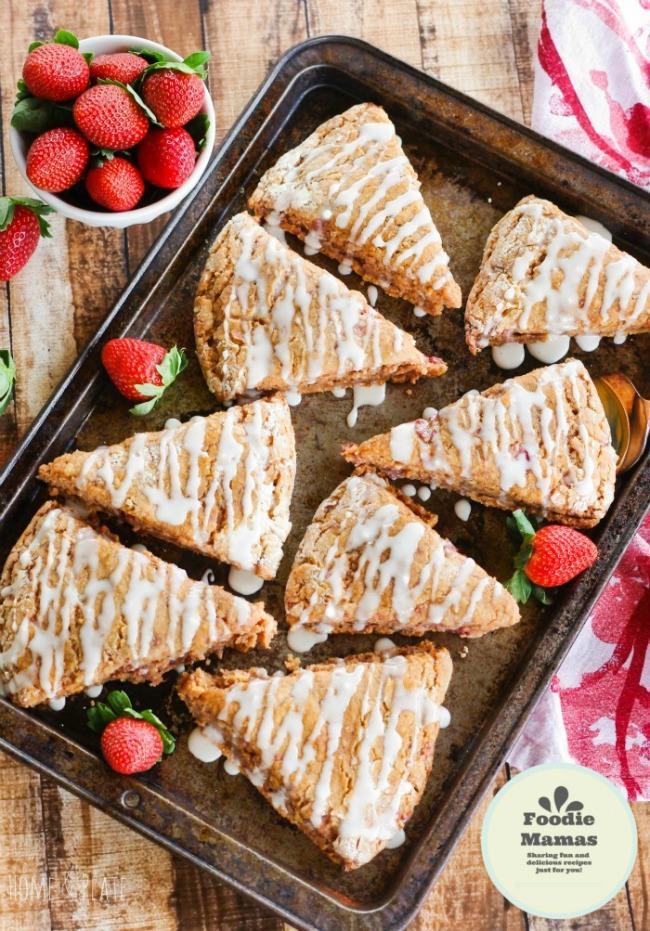 Whole-Wheat-Strawberry-scones-Lemon-Glaze-8