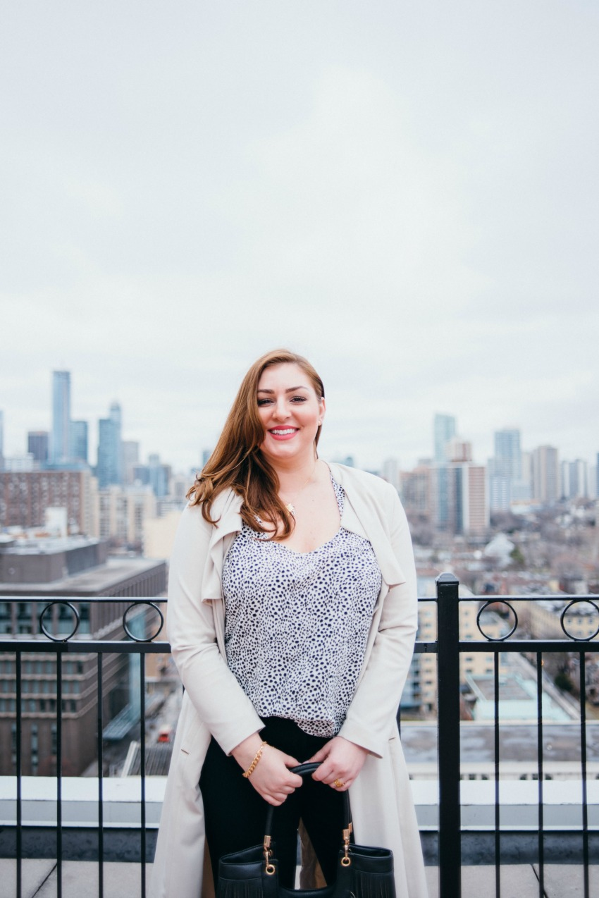 Emily Smith on the Rooftop in Toronto at The Grand Hotel