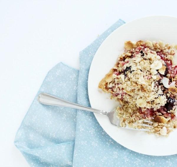 Gluten-Free Cherry Crumble Pie #FoodieMamas