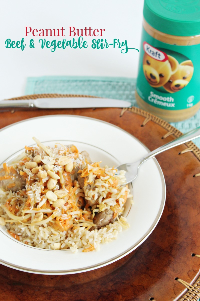 Peanut Butter Beef & Vegetable Stir-fry