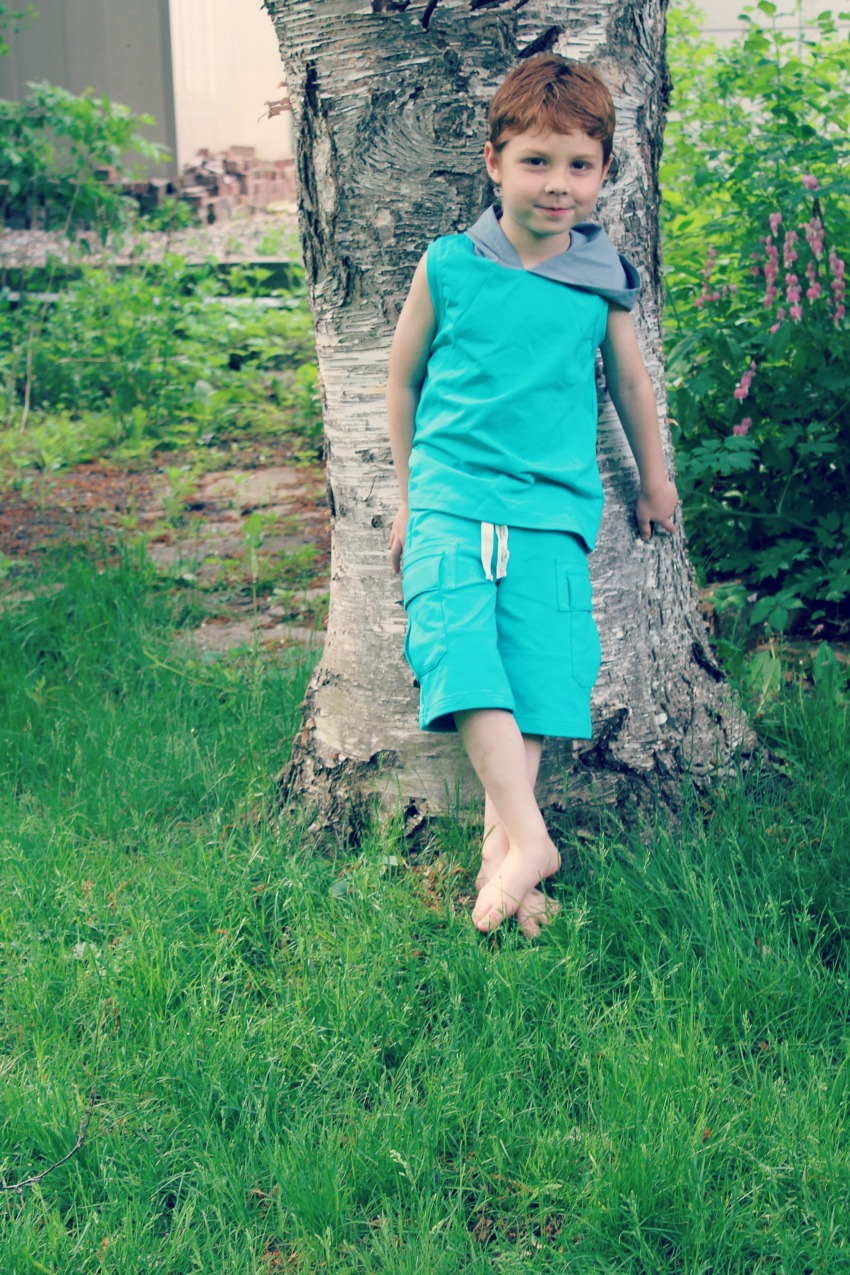 Peekaboo Beans Summer Clothes For Kids Boys Tank and Shorts