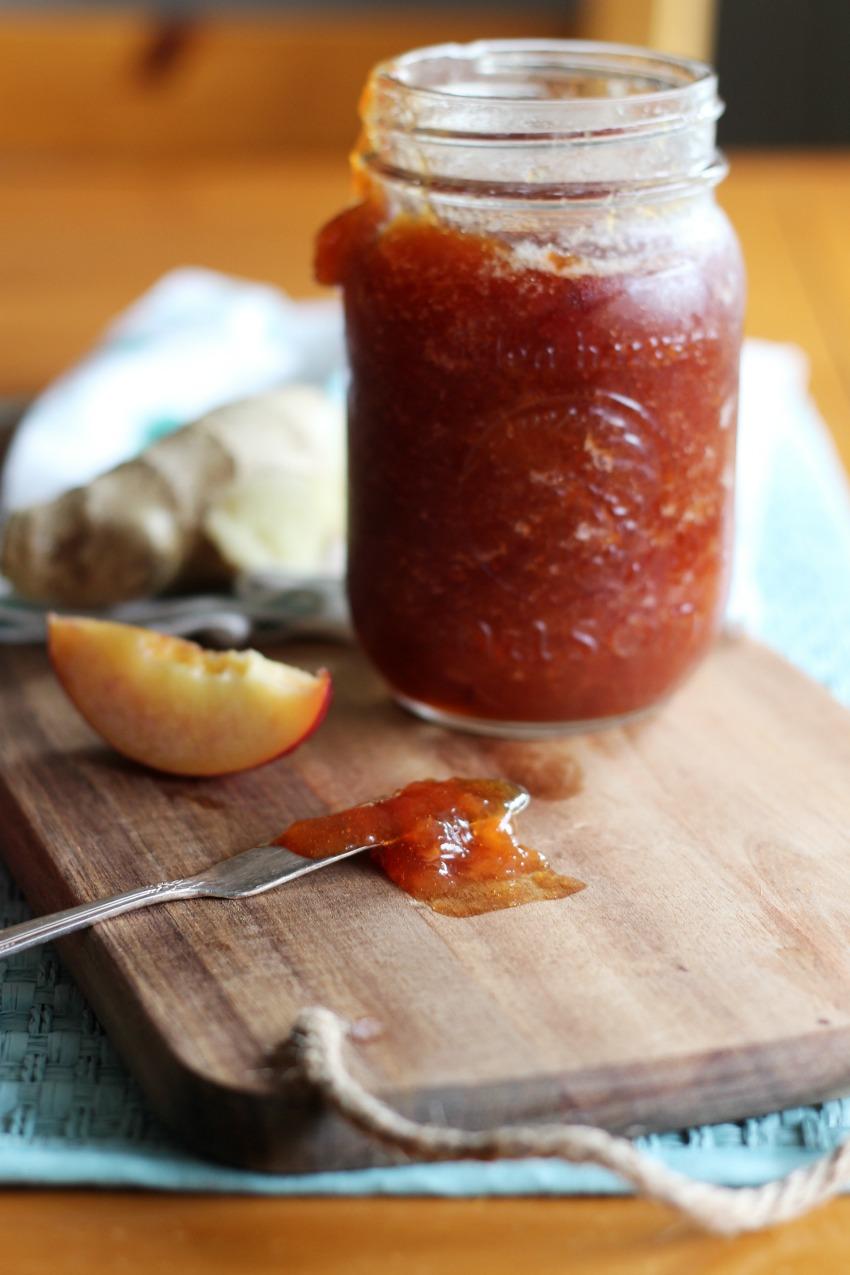 Homemade Nectarine Ginger Jam bestofthislife.com