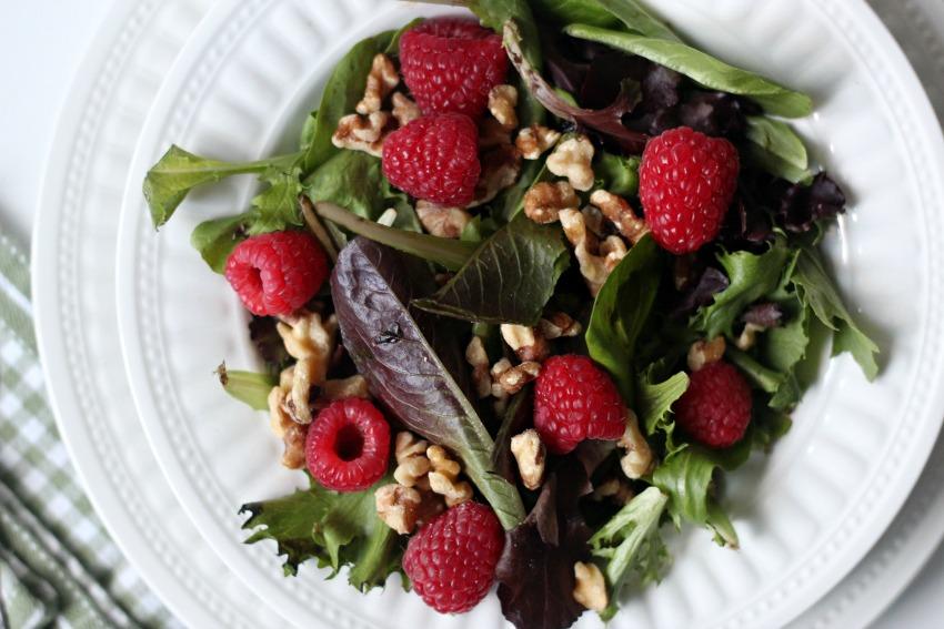 Easy & Beautiful Raspberry Walnut Winter Salad