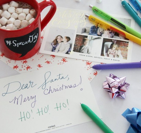 Spread Joy With Hand-Written Holiday Cards & PaperMate's InkJoy Gel Pens