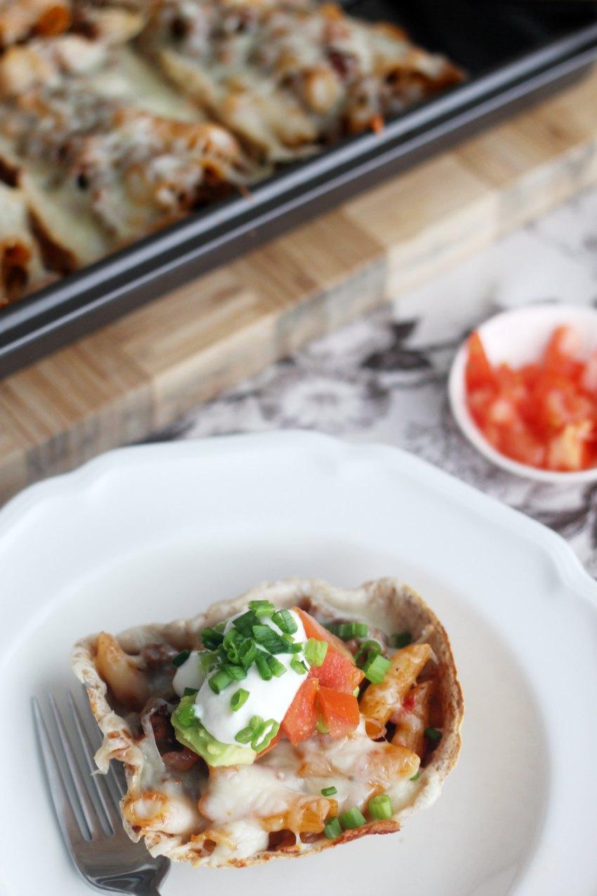 taco-pasta-bake-in-tortilla-bowls-850-x-1275