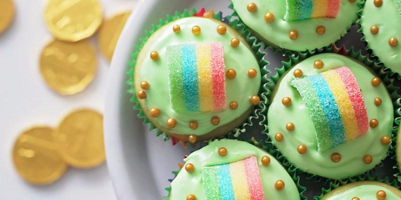 St. Patrick's Day Gluten-Free Rainbow Cupcakes