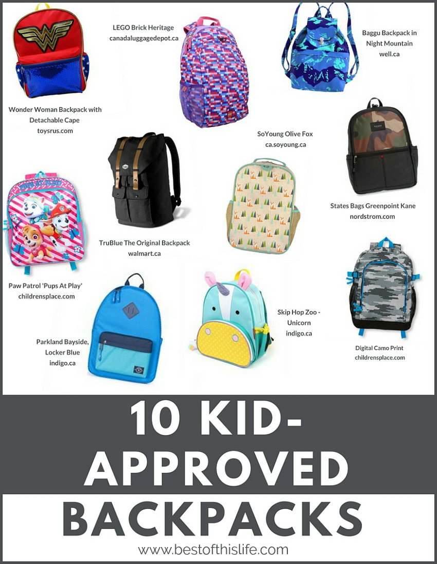 Kid-Approved Backpacks That Are Cool For School - The Best of this Life b64f2ebd5dc12