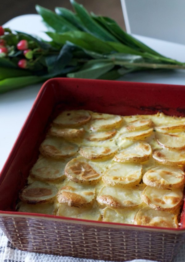 A Hearty Potato Casserole and Fiery Appetizer for Brinner