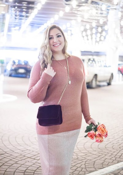 A Cozy and Glamorous Blush Outfit for the Holidays
