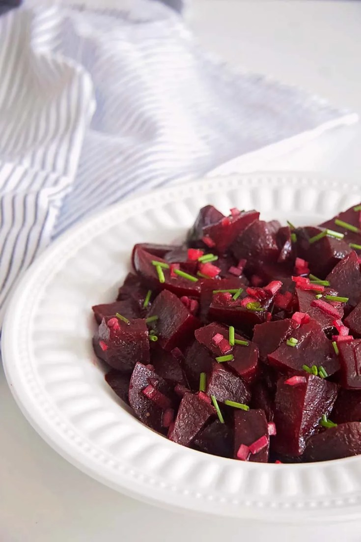 Cold Beet Salad with Red Onions and Chives