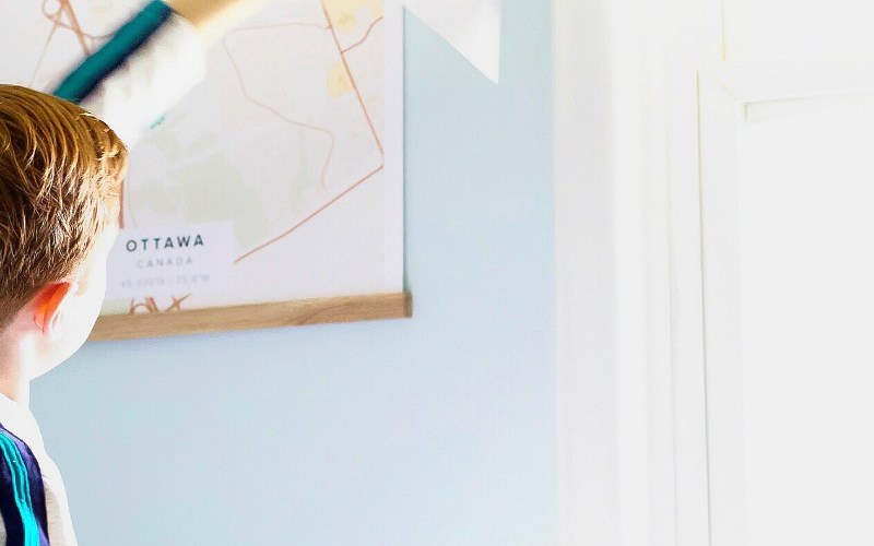 A Dreamy Blue Paint for a Boy's Bright and Modern Bedroom