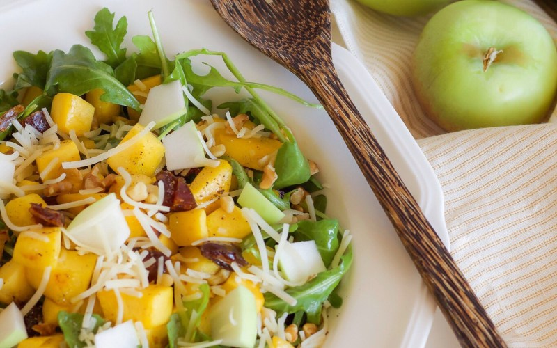A Fall Salad with Roasted Butternut Squash and Apples