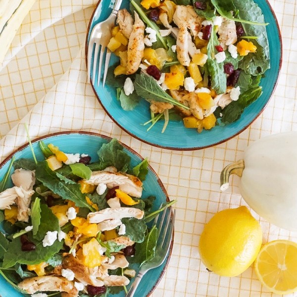 fall salad with butternut squash