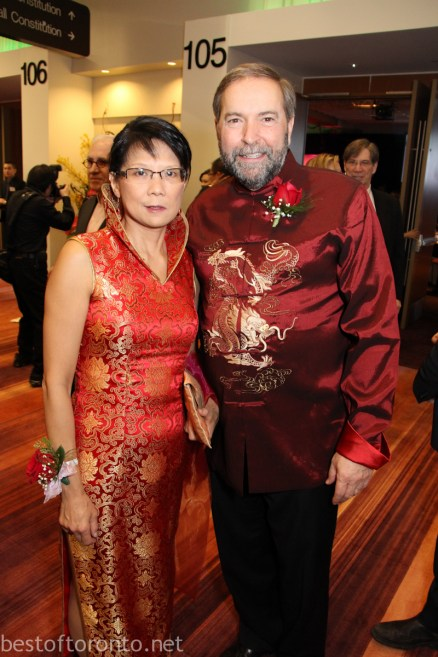 NDP Members Olivia Chow, Tom Mulclair