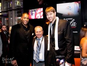 Toronto Raptors Jamaal Magloire (retired), Aaron Gray, center