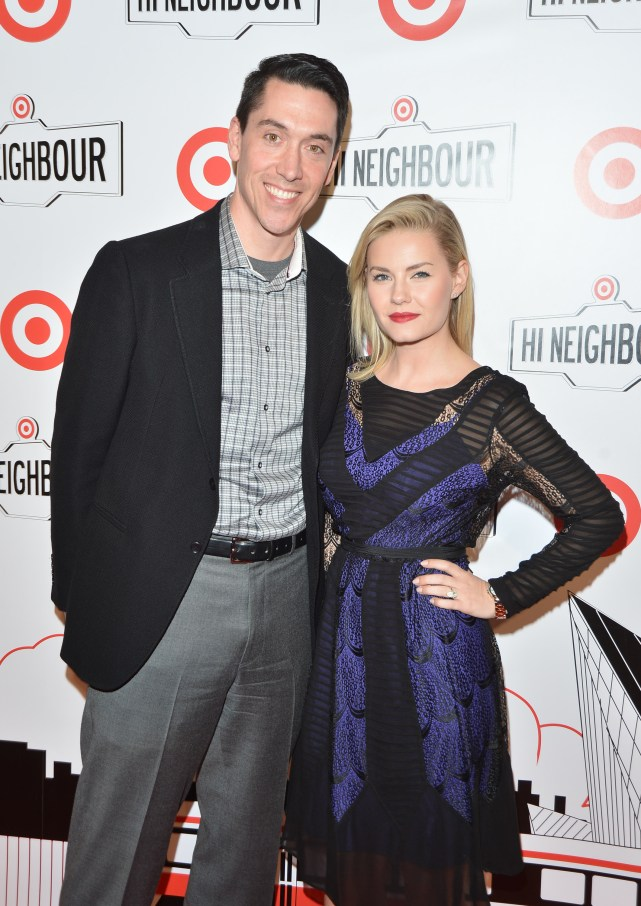 Tony Fisher, president, Target Canada with Elisha Cuthbert | Photo: George Pimentel