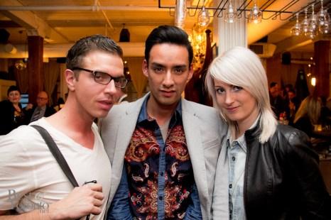 Daniel Philip, Julio Reyes (Fashionights), Sabrina Maddeaux (Toronto Standard)