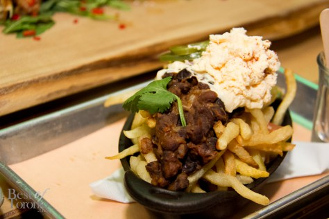 5 Step Fries Supreme with Rose Family Kennebec potatoes, easy cheese, taco fixins