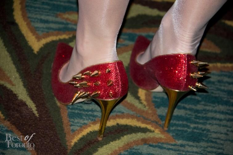 Taylor Kaye's spiky shoes
