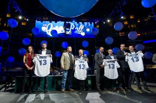 Sponsors: Rogers, Cisco, Samsung, Ericsson being recognized as Curve Ball Grand Slam sponsors Photo: Michelle Prata