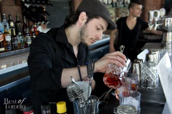 Ganzi's house mixologist, Joao Machado