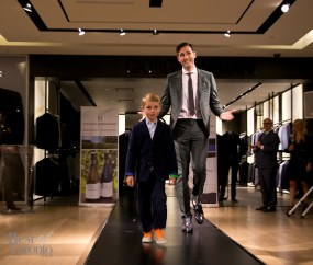 Gabe Gonda, Arts and Life Editor, Globe and Mail with his son