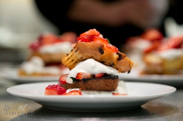 The end result: Strawberry shortcake with grilled pound cake.