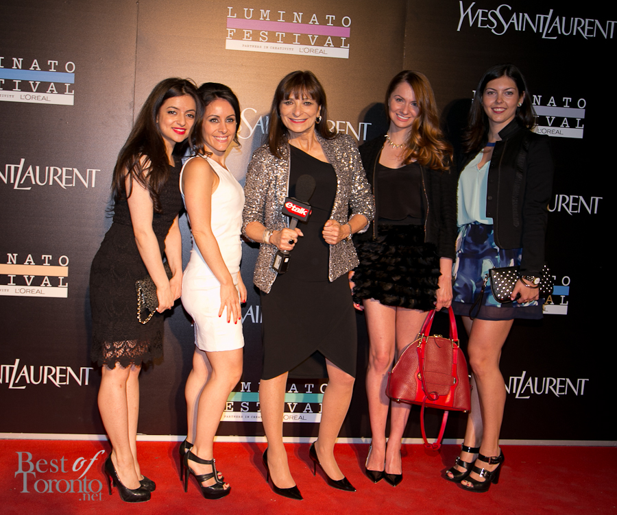 Jeanne Beker with Marta Tryshak and friends