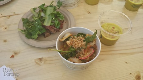 Momofuku Shoto: Brisket with Tiger Vegetables, Cuttlefish Salad, Crab Soup