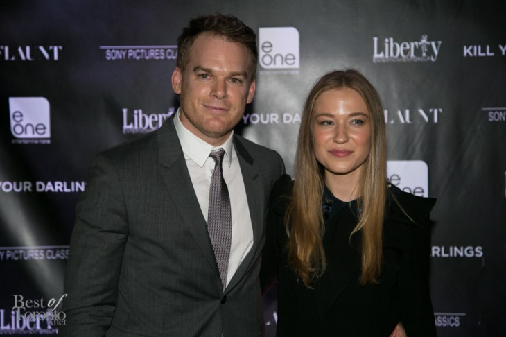left: Michael C. Hall (Dexter) at the Kill Your Darlings after party at C Lounge