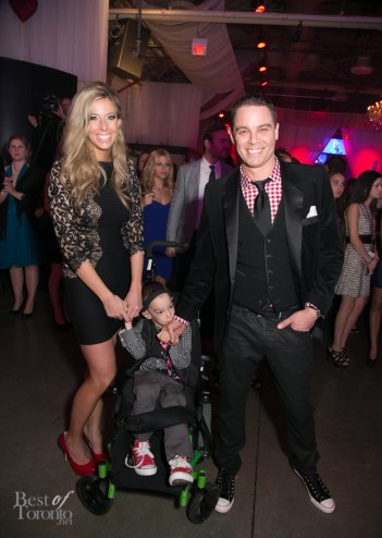 Three to Be founders: Dana and Jared Florence with one of their triplets