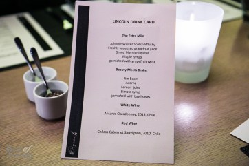 The Lincoln Cocktail menu at Bymark