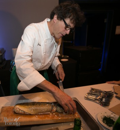 Steamed gefilte fish with dill sauce by Jamie Kennedy Kitchens