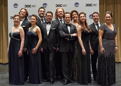 The Canadian Opera Company's Ensemble Studio Competition Gala, November 26 2013 1164 – Ensemble Studio Competition finalists and winners with the COC's General Director Alexander Neef and Music Director Johannes Debus (centre)   Photo: Michael Cooper