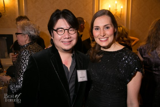 """Kevin Kwan, author of """"Crazy Rich Asians"""" with his publicist"""