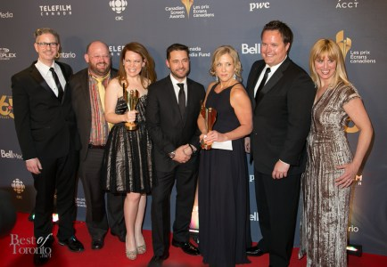 middle: Best Actress winner Tracy Dawson and Best Actor winner, Jason Priestly