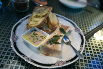 Bone marrow with chicken liver, sage and toast