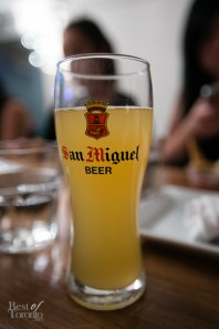 Shandy beer cocktail with San Miguel beer and calamansi juice $8