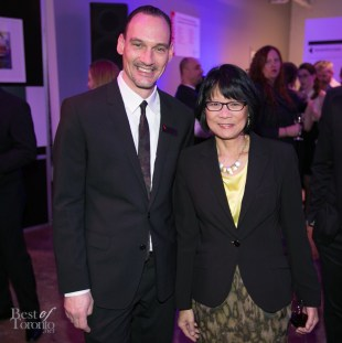 ACT Executive Director John Maxwell with MP Olivia Chow