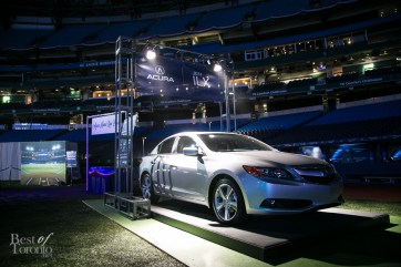 The grand raffle prize: Acura ILX Tech sedan in the Acura Home Run Draw