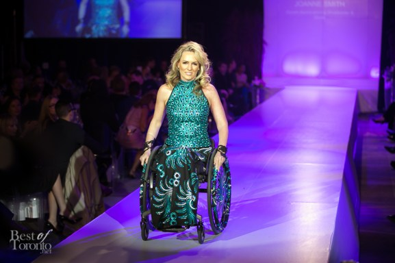 Joanne Smith (Gemini award-winning Broadcaster and model) wearing IZ by Izzy Camilleri Adaptive Clothing