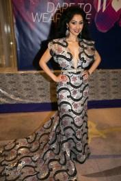 Veronica Chail wearing Pat McDonagh