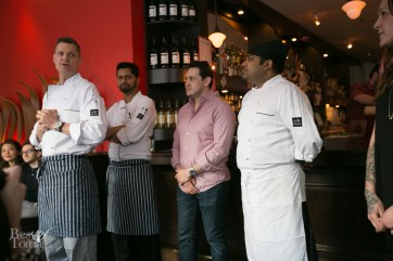 Introducing some of the Milagro staff including Chef Arturo Anhalt on the left