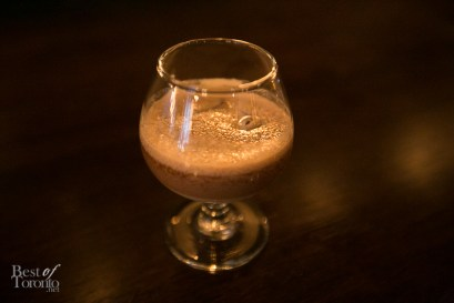 """The """"Eye Opener"""", the signature drink of The Rum Exchange. is a refreshingly light but creamy blend of beer, Angustora Rum and condensed milk"""