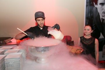 Food Dudes making ice cream sandwiches with dry ice