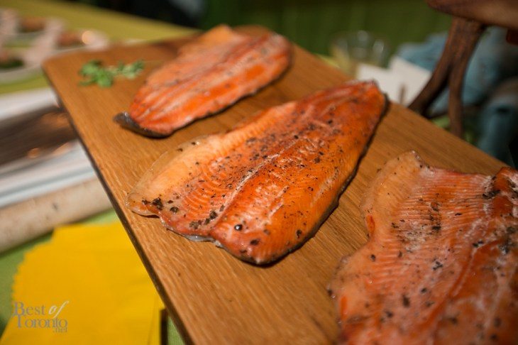 House smoked Ontario rainbow trout with maple soy glaze at Paul Boehmer's booth (Boehmer Restaurant)