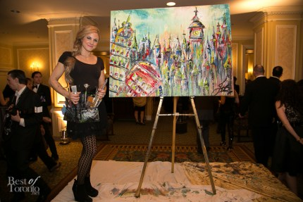 JessGo (Jessica Gorlicky) with her finished live art