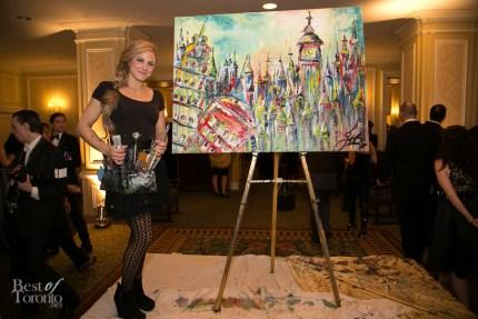 JessGo (Jessica Gorlicky) with her finished live art