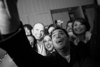 Tie Domi and George Pimentel in this group selfie