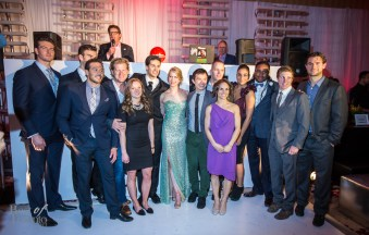 Canadian athlete ambassadors in this group shot